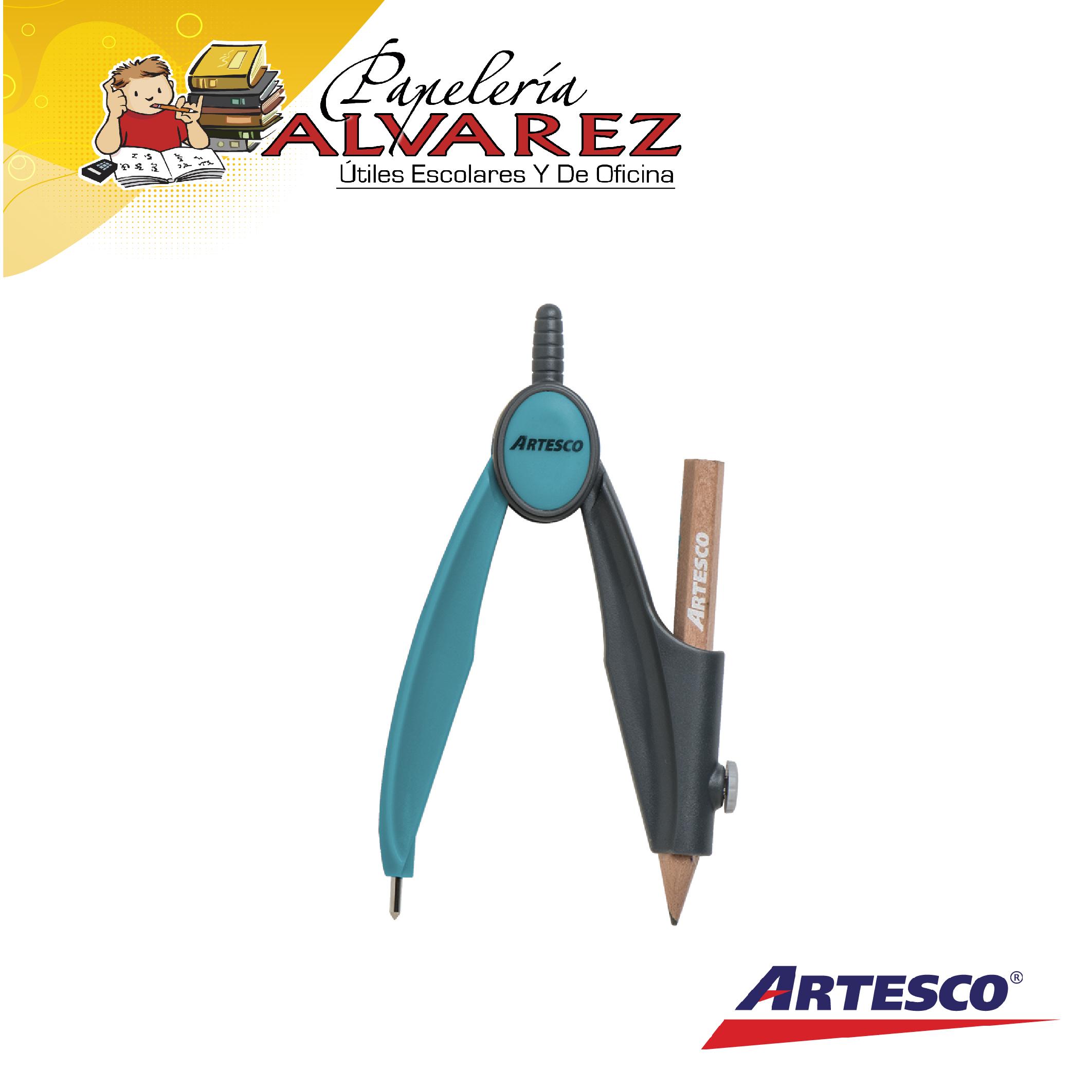 COMPAS ARTESCO PLASTICO CON LAPIZ-