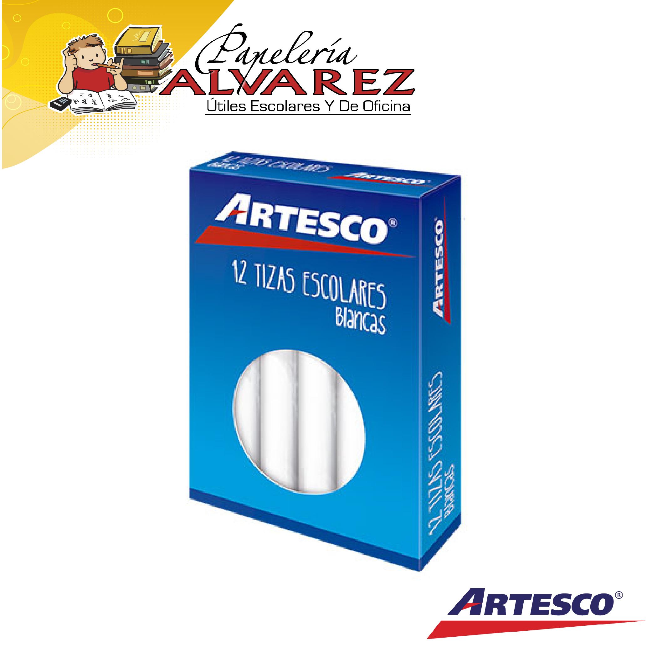 TIZA ARTESCO BLANCA X 12 ANTIALERGICA