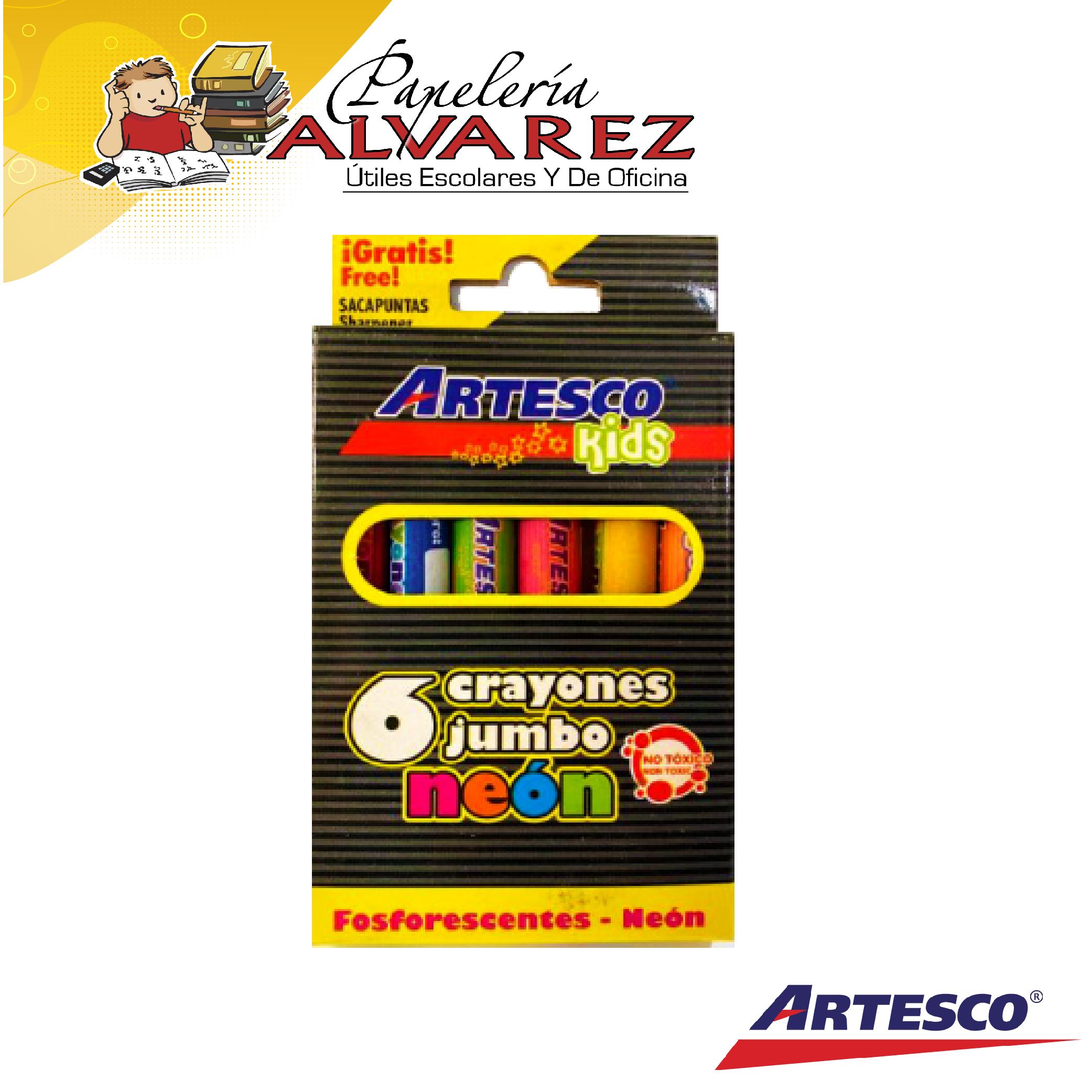 CREYON ARTESCO JUMBO NEON X 6 KIDS-