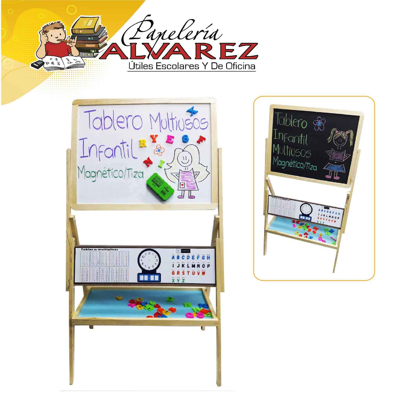 TABLERO XPRESART MAGNETICO/TIZA INFANTIL