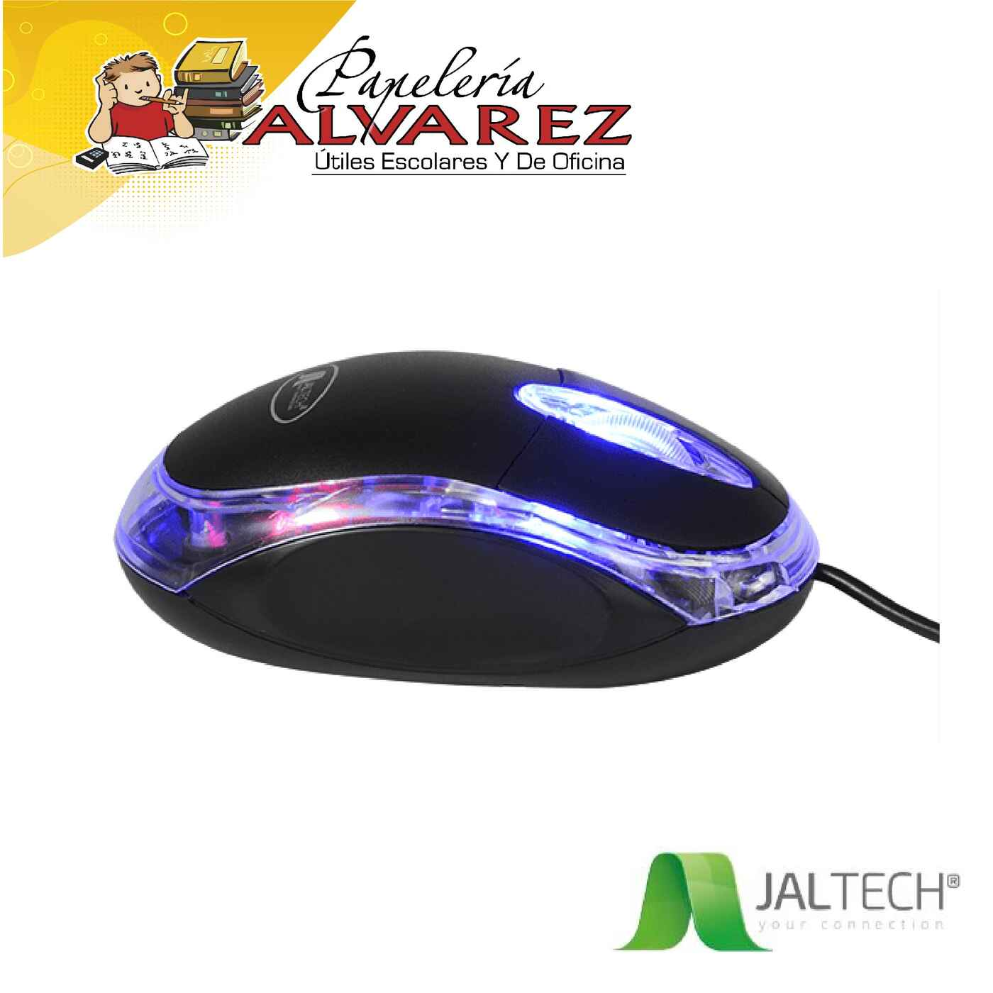 MOUSE MINI JALTECH USB LED BLISTER 706B