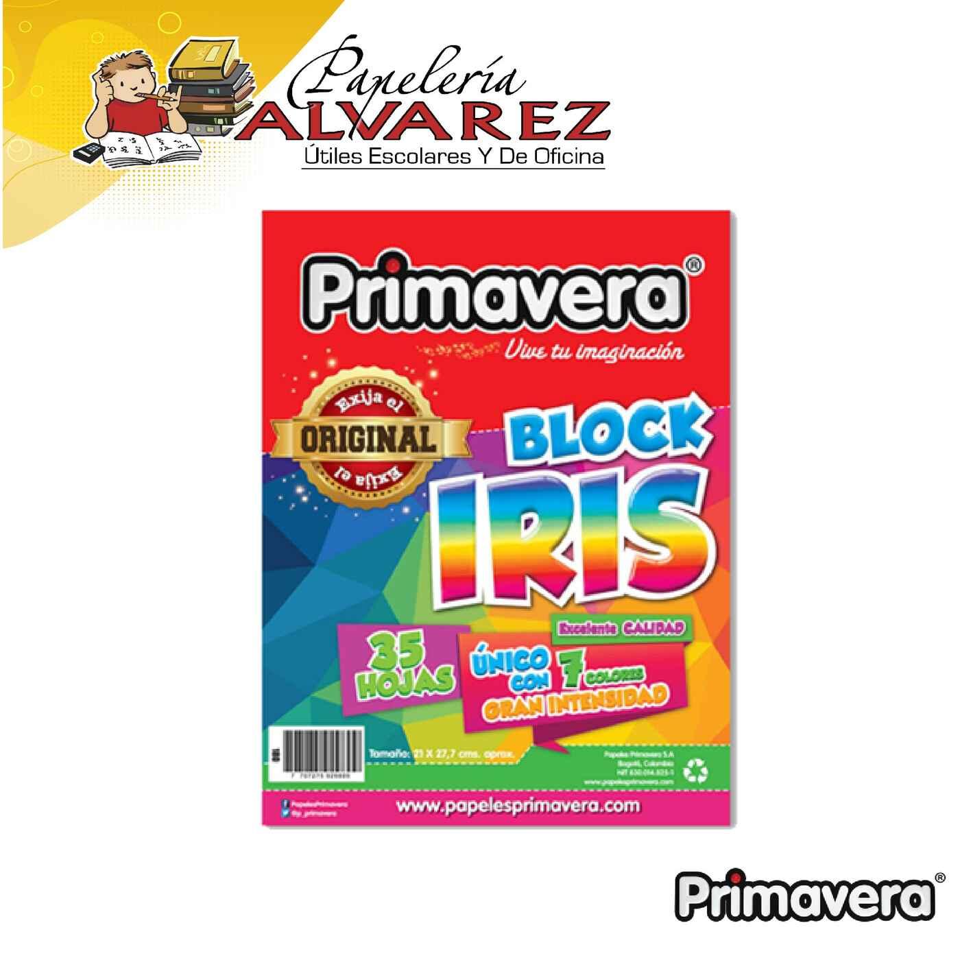 BLOCK IRIS CARTA PRIMAVERA 35 HOJAS