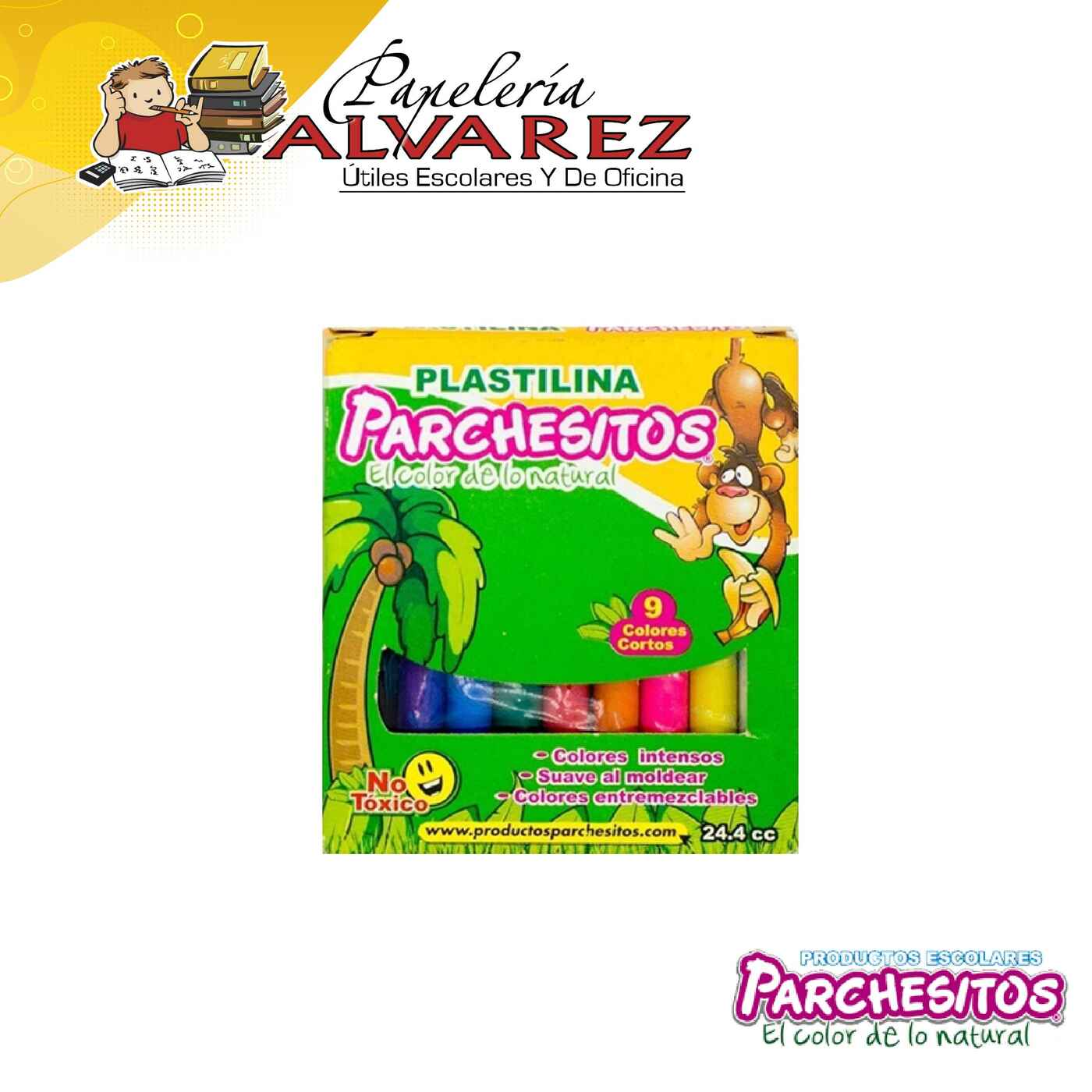 PLASTILINA PARCHESITOS CORTA X 9