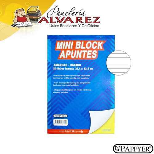 BLOCK AMARILLO 1/2 CARTA